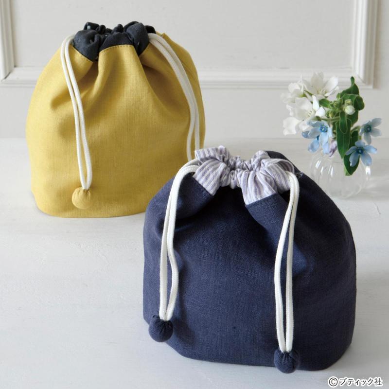 ハギレで作る「手のひらサイズのおしゃれな巾着」作り方