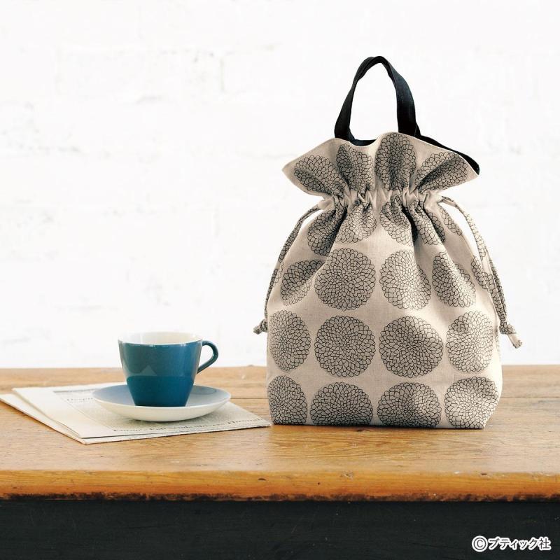 おしゃれな「巾着タイプの手提げバッグ」作り方