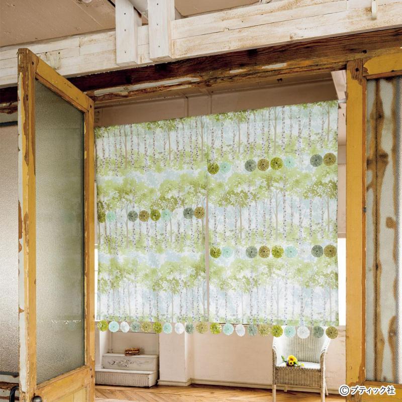 ゆらゆら揺れる「ヨーヨーキルトの暖簾」作り方