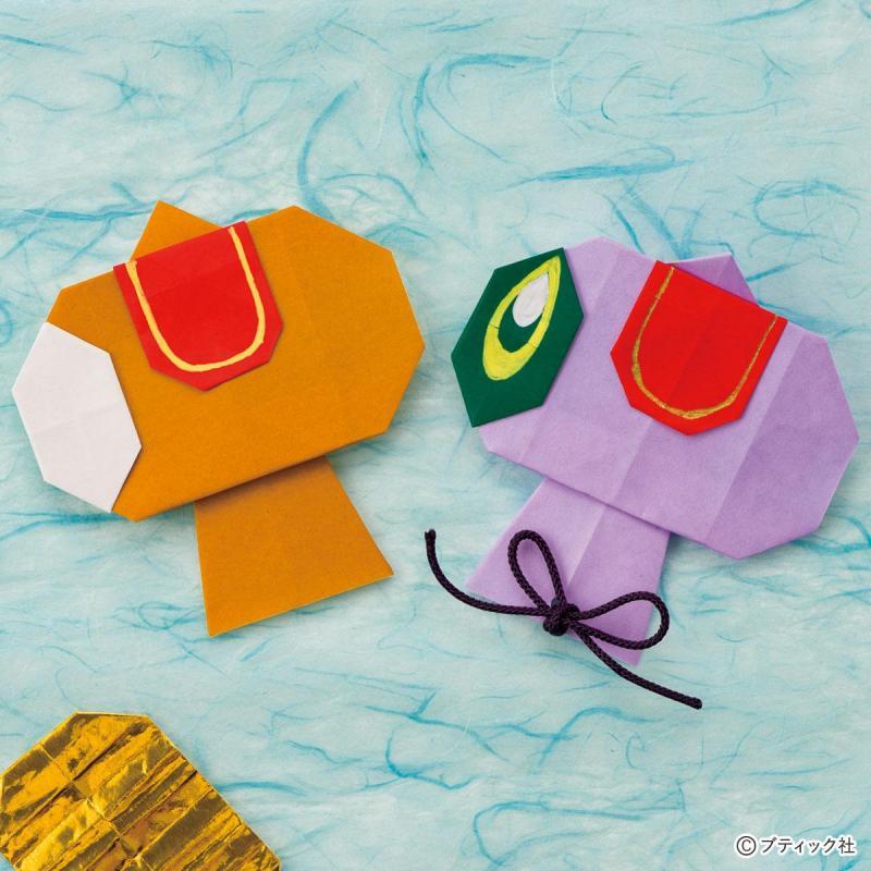 かんたん折り紙「打ち出の小槌」の作り方