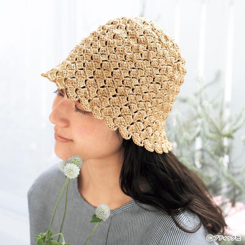 たためる帽子「チューリップクロッシェ」作り方