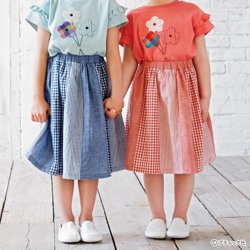 まっすぐ縫いで簡単!「子どものパッチワークスカート」作り方