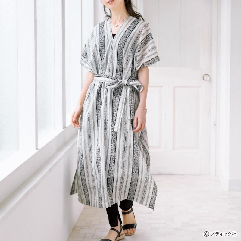 まっすぐぬって作る服「カフタン風のワンピース」作り方