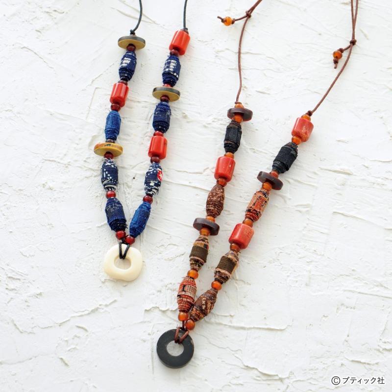 「和布で作るおしゃれなネックレス」作り方