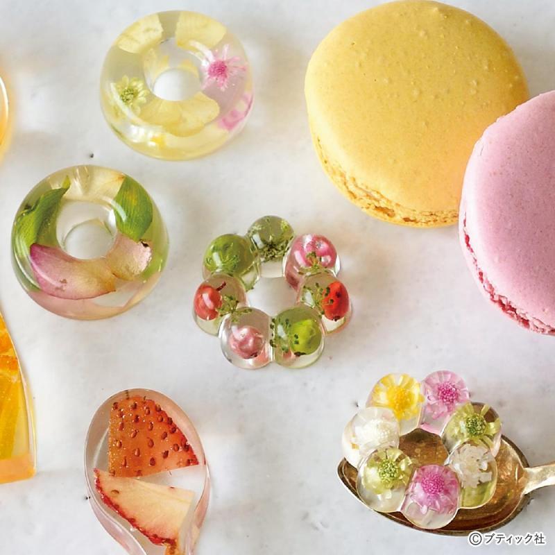 おしゃれなハーバリウムの「ドーナツ型カトラリーレスト」作り方