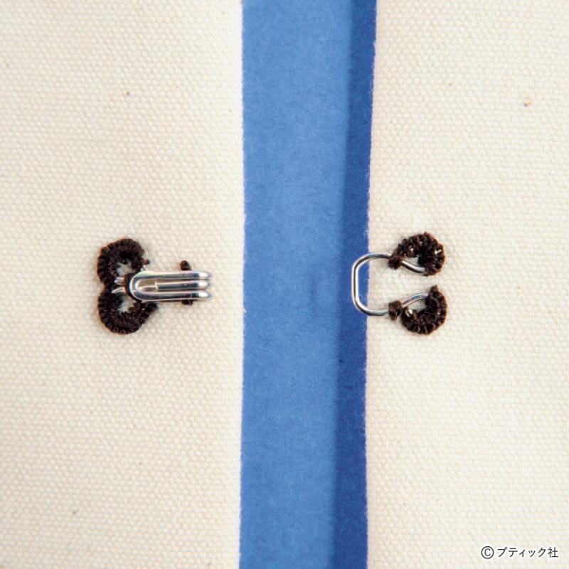 ソーイング(お裁縫)の基礎「スプリングホックのつけ方」について