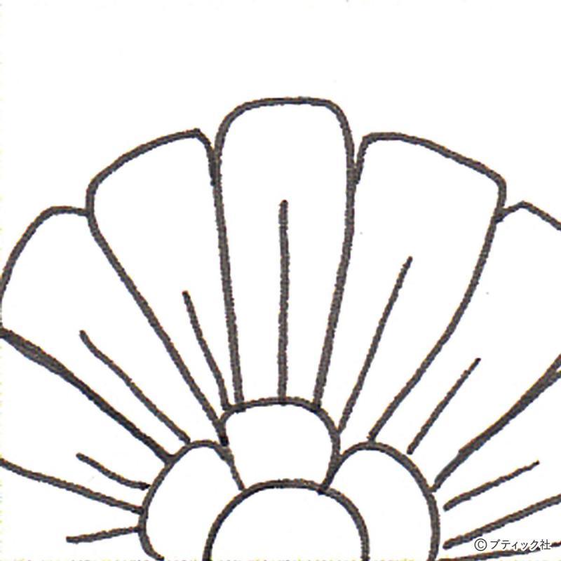 ゼンタングルのおすすめパターン「Flora(フローラ)」描き方