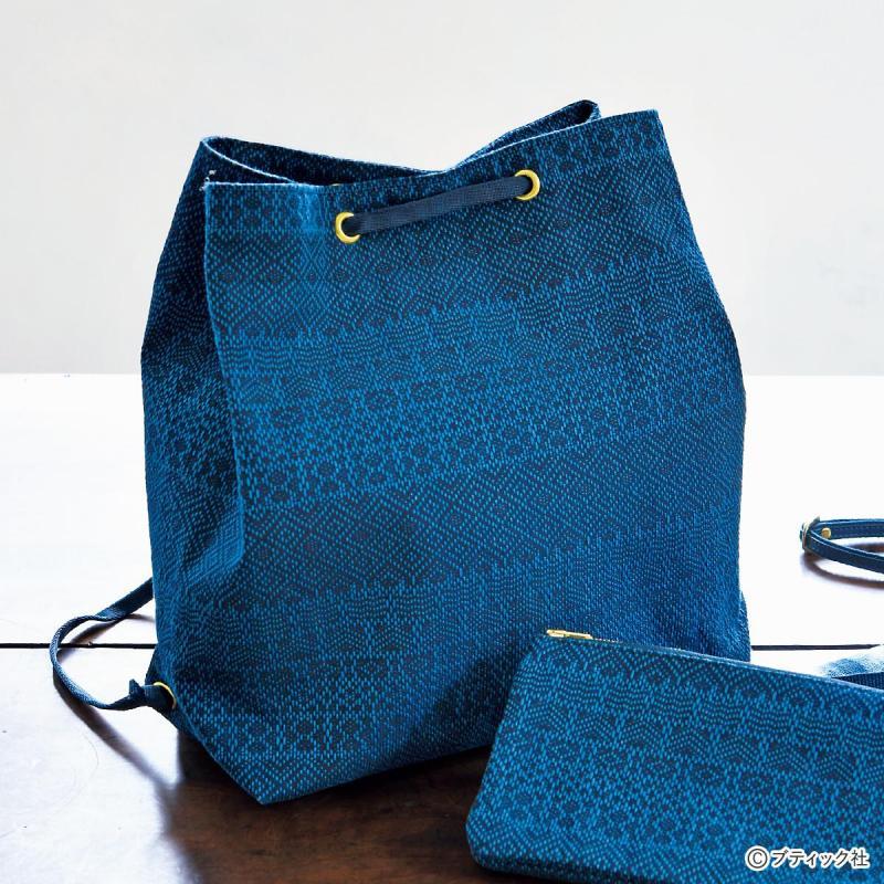 和布の「巾着型リュック」作り方