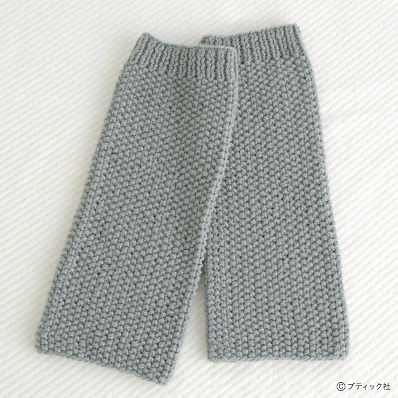 「かのこ編みのレッグウォーマー」編み方