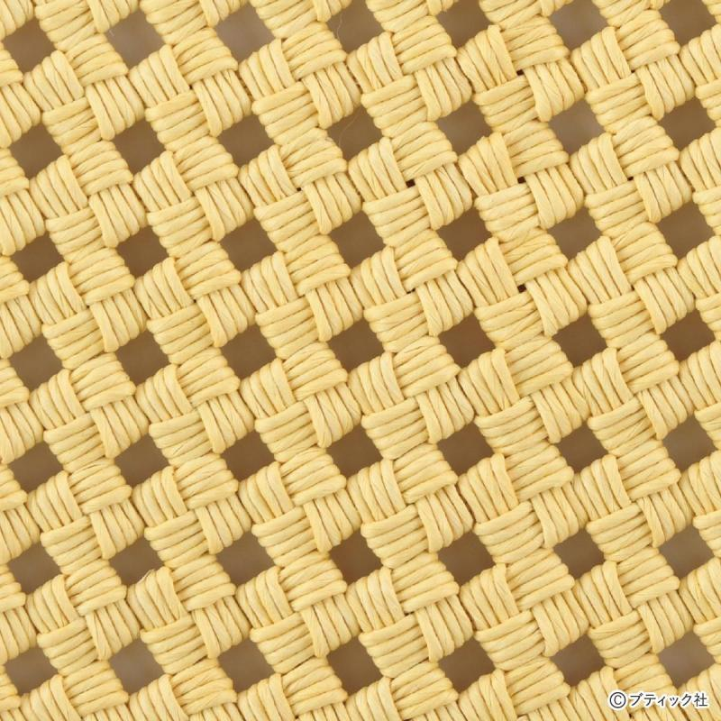 エコクラフトRの基礎 「四つだたみ編み(石畳み編み)」について