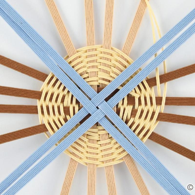 エコクラフトRの基礎 「井桁底の編み方」について