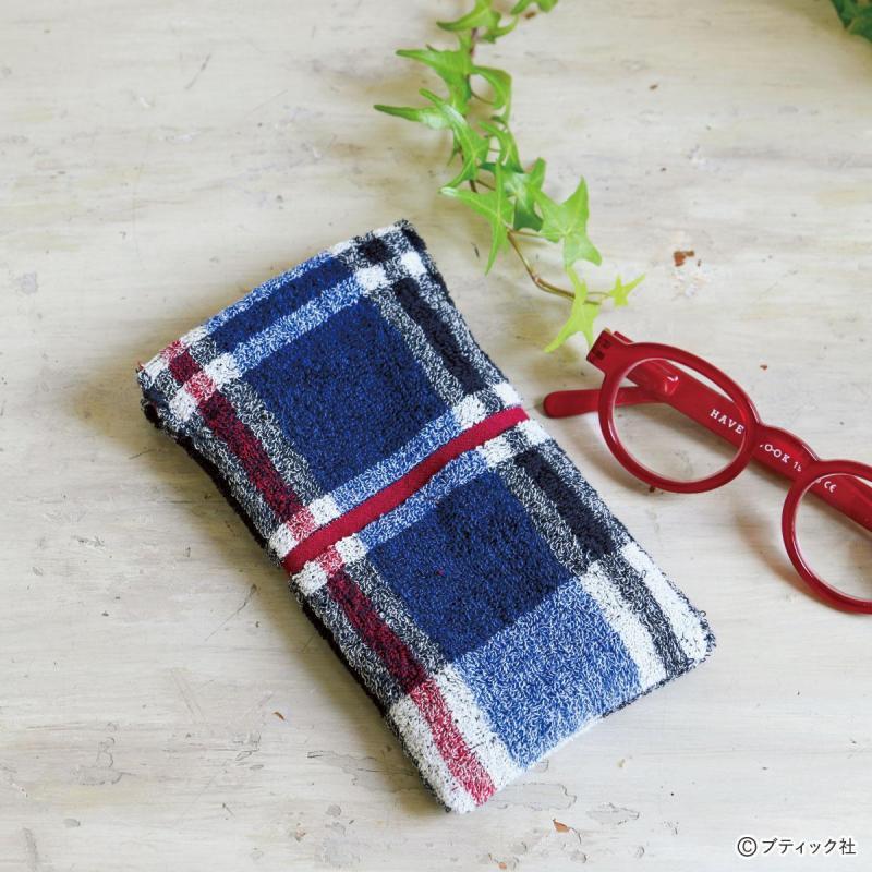 サスティナブルな布小物「タオルハンカチでメガネケース」の作り方