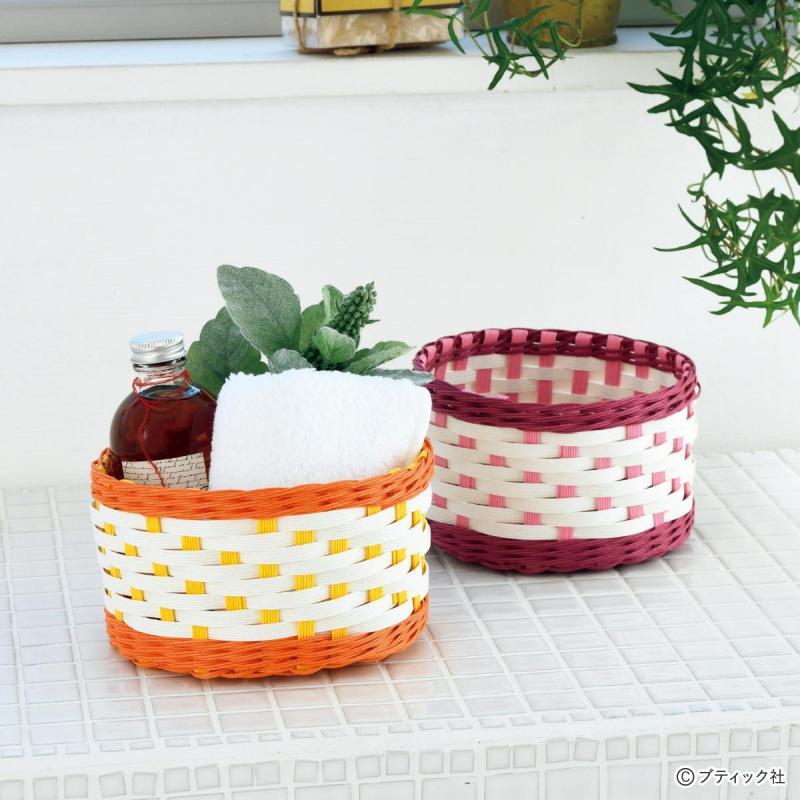 丸い形がかわいい「とばし編みの小物入れ」作り方