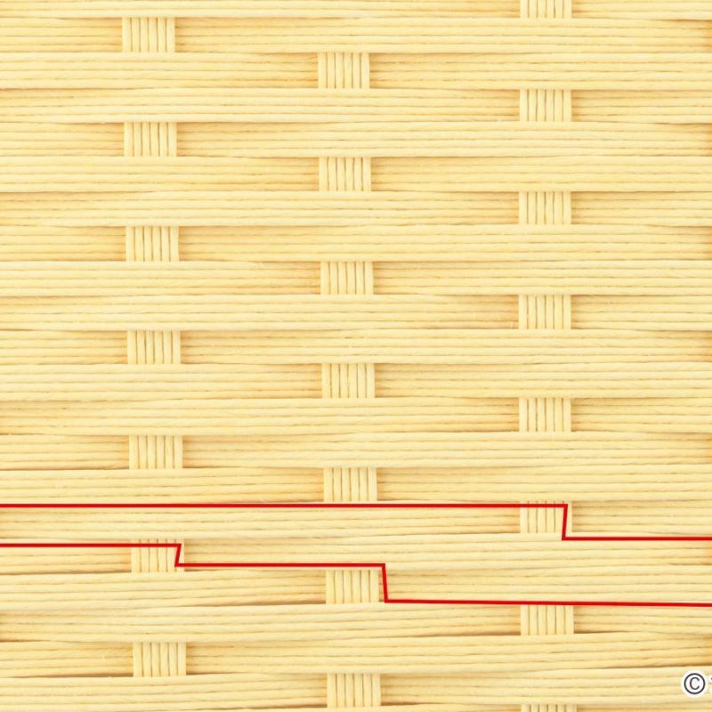 エコクラフトRの基礎 「とばし編み」について