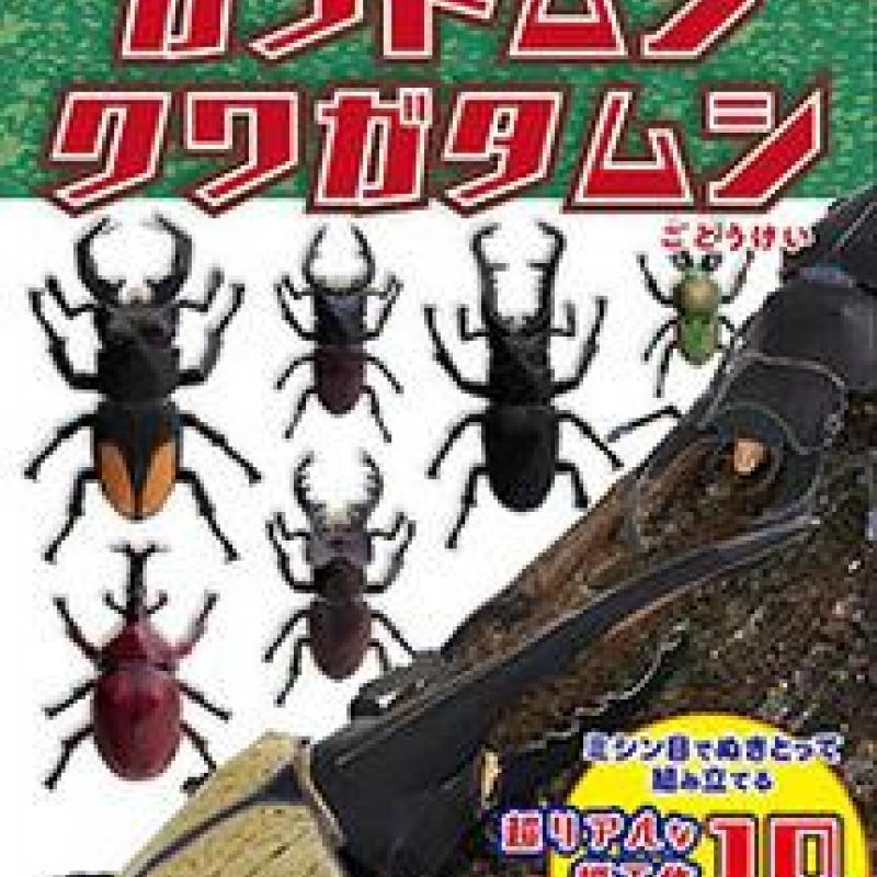 「ペーパークラフトブック カブトムシ クワガタムシ」(子供向け工作)