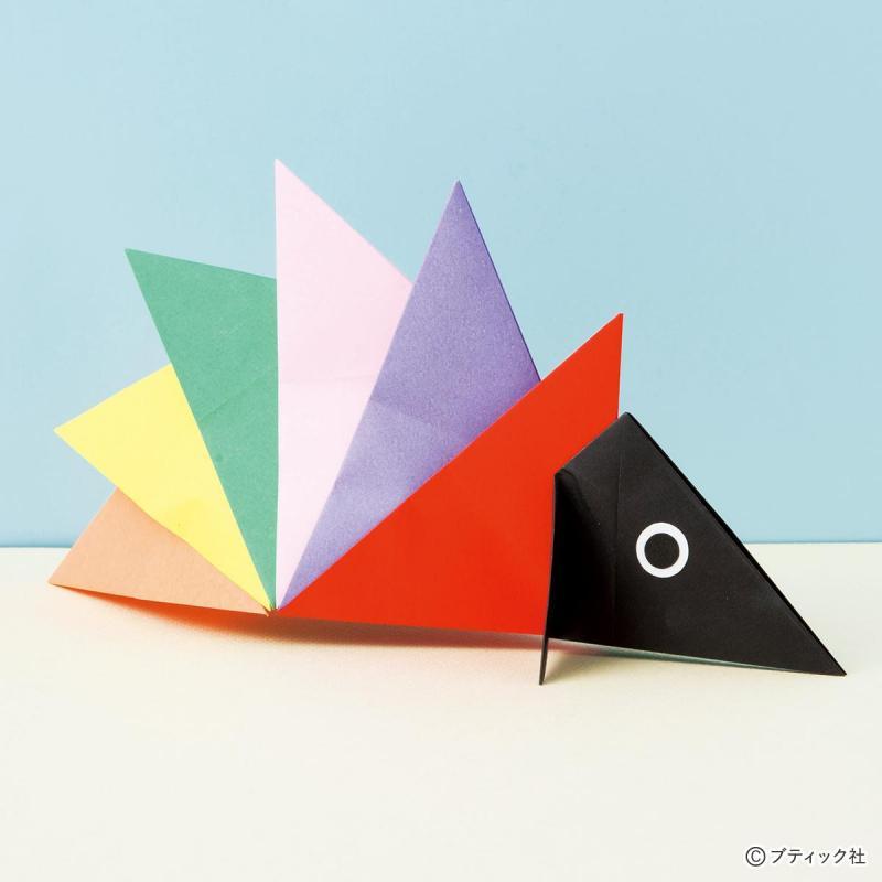 ユニット折り紙で作る動物!「はりねずみ」の折り方