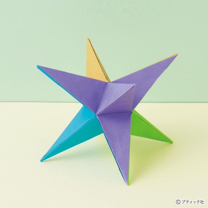 クリスマスオーナメントみたいな「星の24面体」の折り方