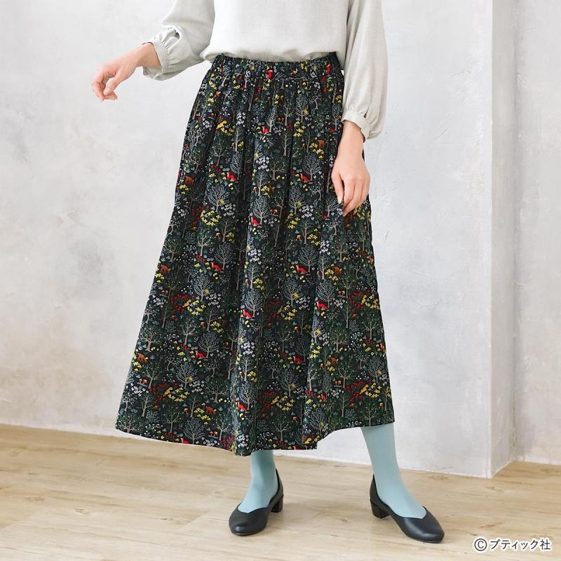 「シンプルなウエストゴムのスカート」作り方
