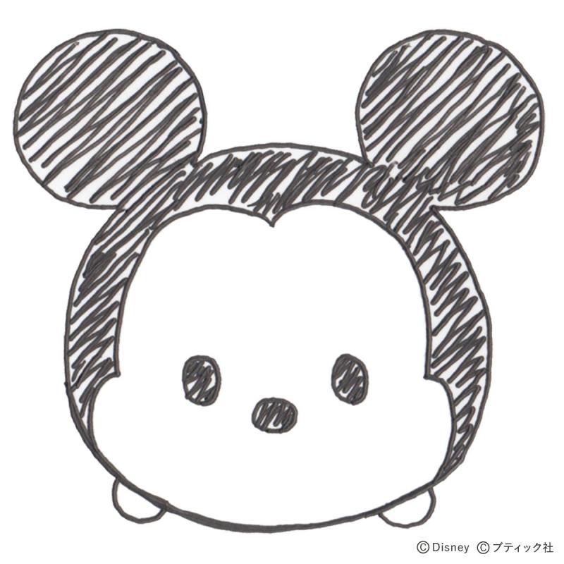 ボールペンイラスト「ミッキー」の描き方