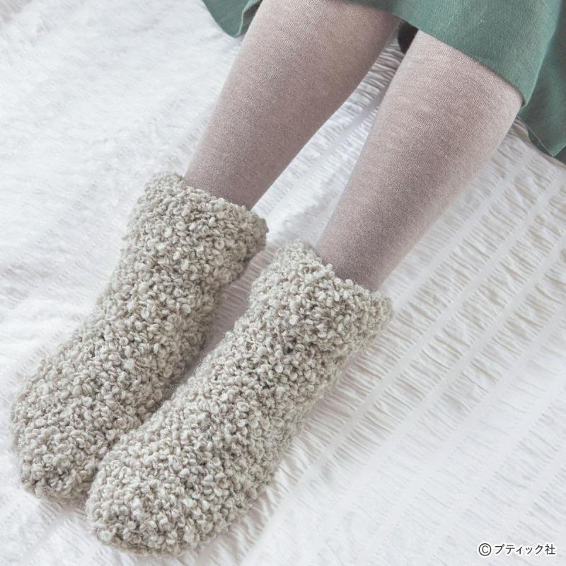 おうちスタイルを可愛くする!「もこものルームシューズ」の編み方