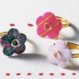 マステとUVレジンで簡単!お花のリングの作り方