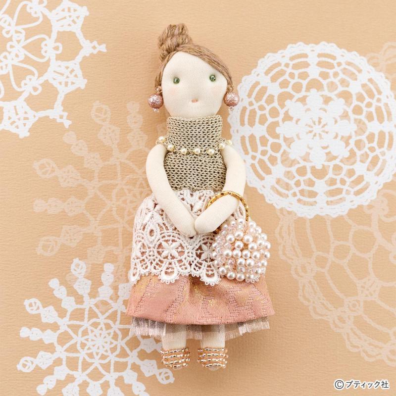 手作り人形「セレブなマダムのドールチャーム」作り方