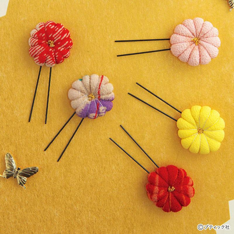 手作りのヘアピン「花びらの髪飾り」の作り方