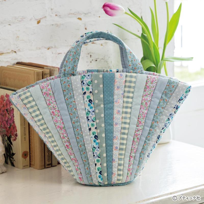 パッチワーク「扇形のバッグ」の作り方
