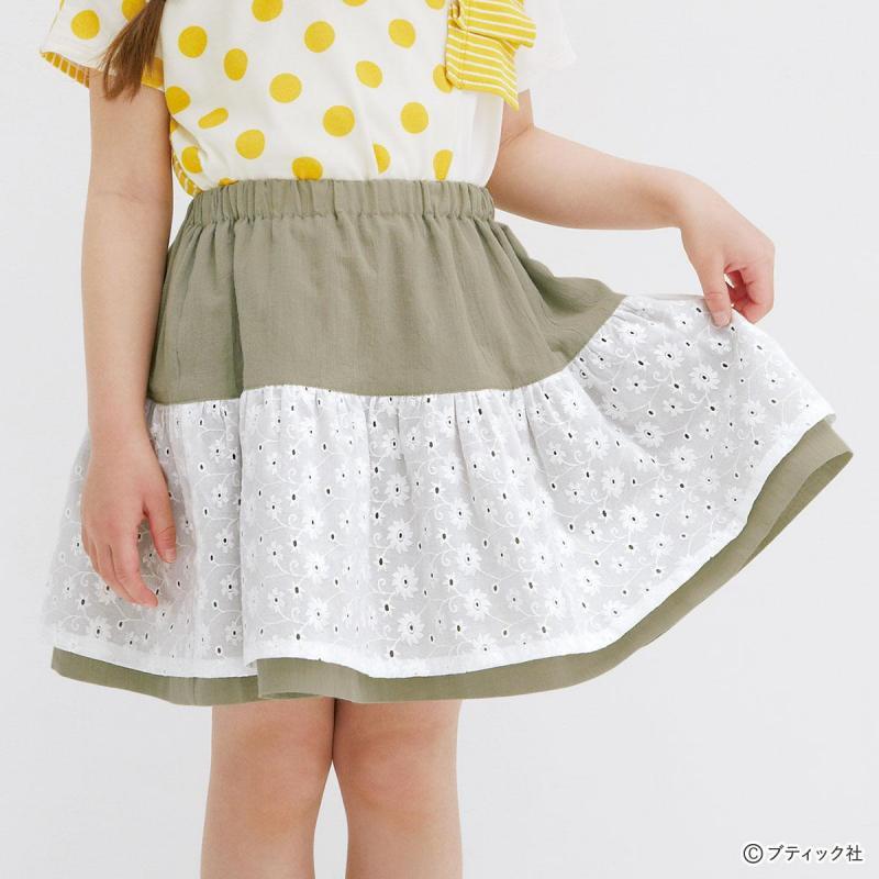 型紙不要!こどもの夏服「リバーシブルのスカート」の作り方