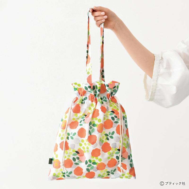 まっすぐ縫うだけ「巾着型ぺたんこエコバッグ」の作り方