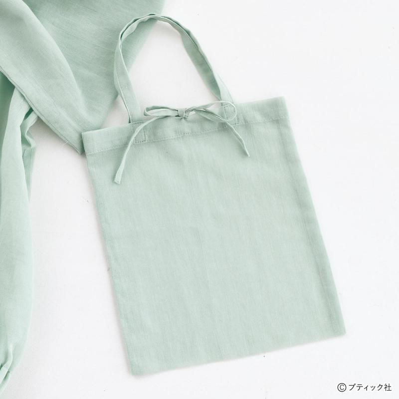 シアーのハギレで作る「かわいい ぺたんこミニバッグ」作り方