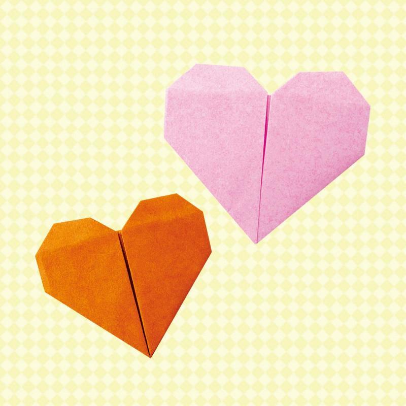 子どもでも簡単!楽しい!折り紙でかわいいハートの折り方