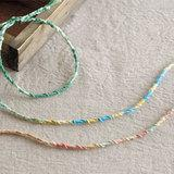 グラデーションがおしゃれ!輪結びのミサンガの作り方