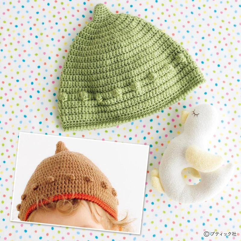 パプコーン編みがかわいい♪ベビーのどんぐり帽子の作り方