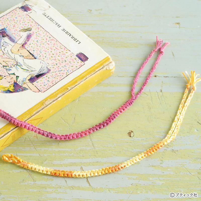初心者でも簡単な編み方!おしゃれなミサンガ26作品の作り方