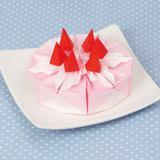 子どもが喜ぶ折り紙♪いちごのショートケーキの折り方