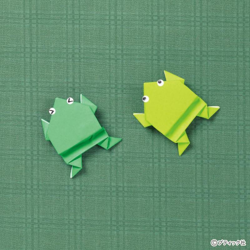 【折り紙】作って遊べる!ピョンピョン飛ぶカエルの折り方