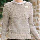 無料編み図付き!ふんわり仕上げのレディースセーターの作り方