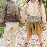 かわいい子供の手編みセーター!動物の耳としっぽ付き!