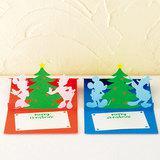 ミッキーやミニーが一緒に!プレゼントボックスのクリスマスカードの作り方(ディズニーカード)