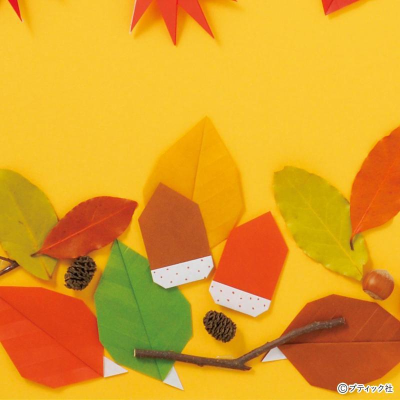 子どもでも簡単!秋を楽しむ小さな折り紙のどんぐりの折り方