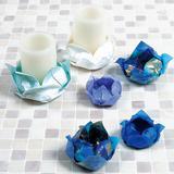 折り紙で作る!蓮の花の「LEDキャンドルホルダー」の折り方