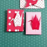 折り紙を使ったポップな 鶴の手作りポチ袋の作り方