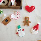 フェルトの手作りクリスマスオーナメント6種類の作り方