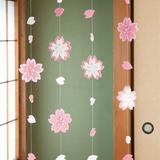 キラキラ輝く 春に咲く満開の桜のつるし飾りの作り方