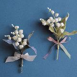 入学式などにコサージュとして♪スズランの花のブローチの作り方