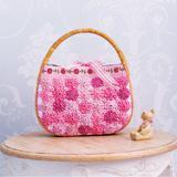 かごバッグをリメイク!キルトのお花をつけたバッグの作り方