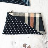 通帳やハガキなども入る!おしゃれな台形の和布のポーチの作り方