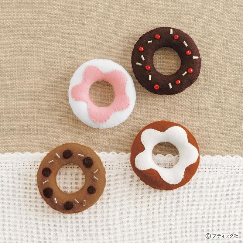 フェルトのお菓子!簡単に作れるドーナツの作り方