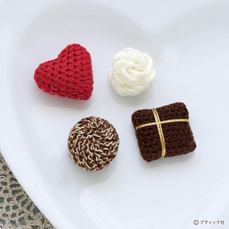 かわいい!ハート型のチョコレートモチーフの作り方